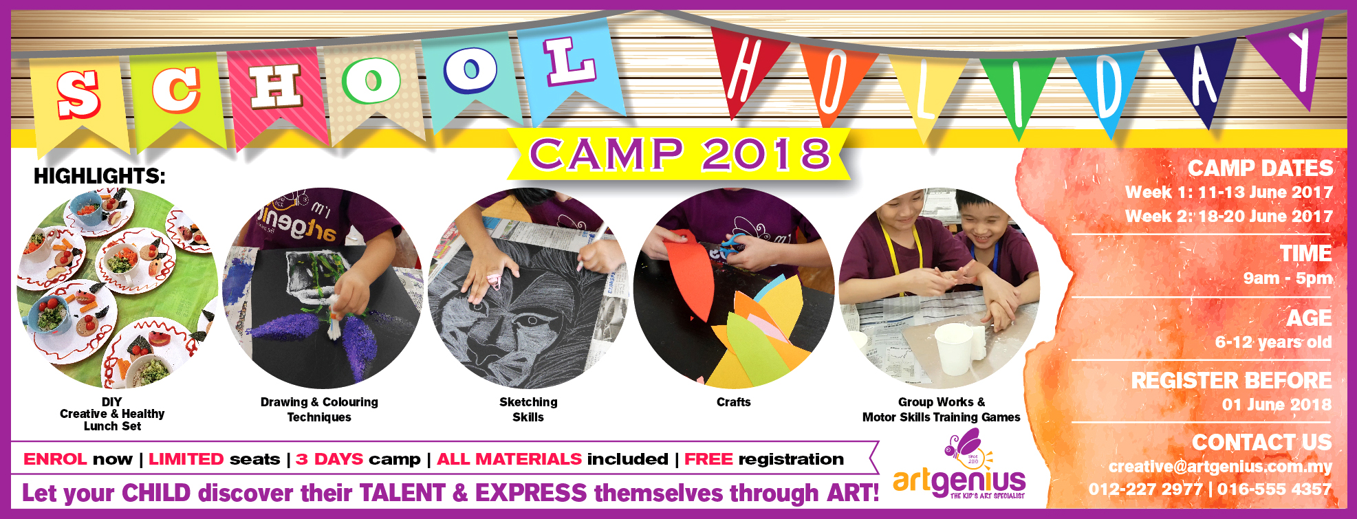 School Holiday Camp June 2018