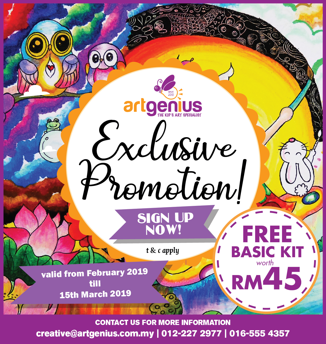 Exclusive Promotion Feb-Mac 2019