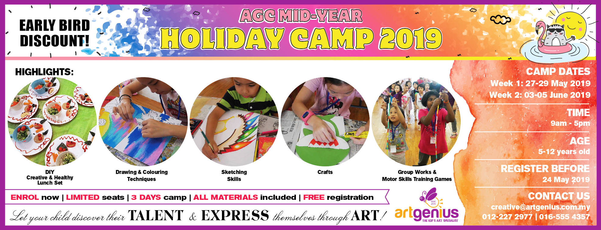 School Holiday Camp May-Jun 2019