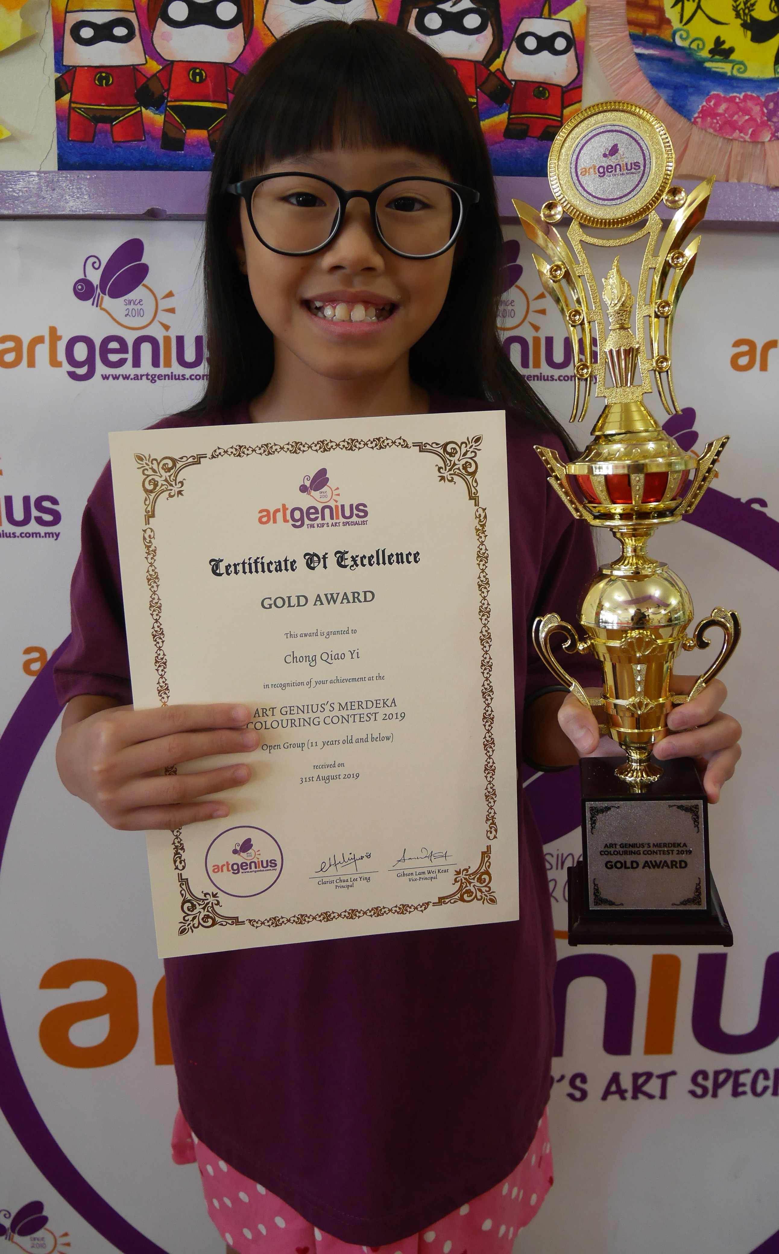 Art Genius Merdeka Colouring Contest 2019 1st Prize