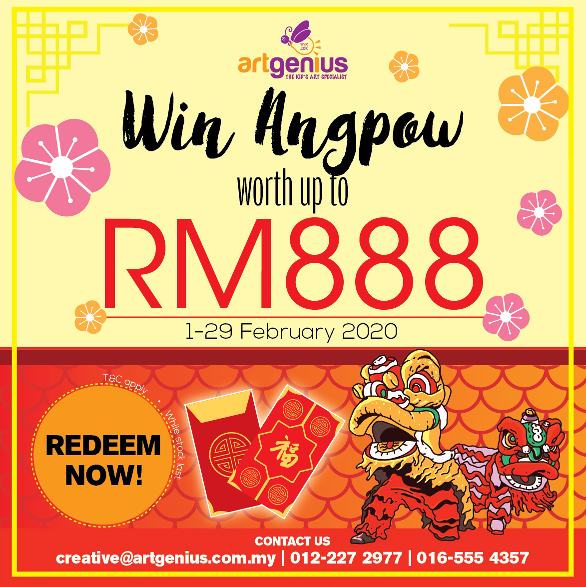 Free Angpow Worth Total of RM888