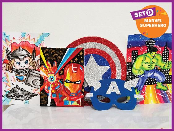 Artbox Set D Marvel Superhero