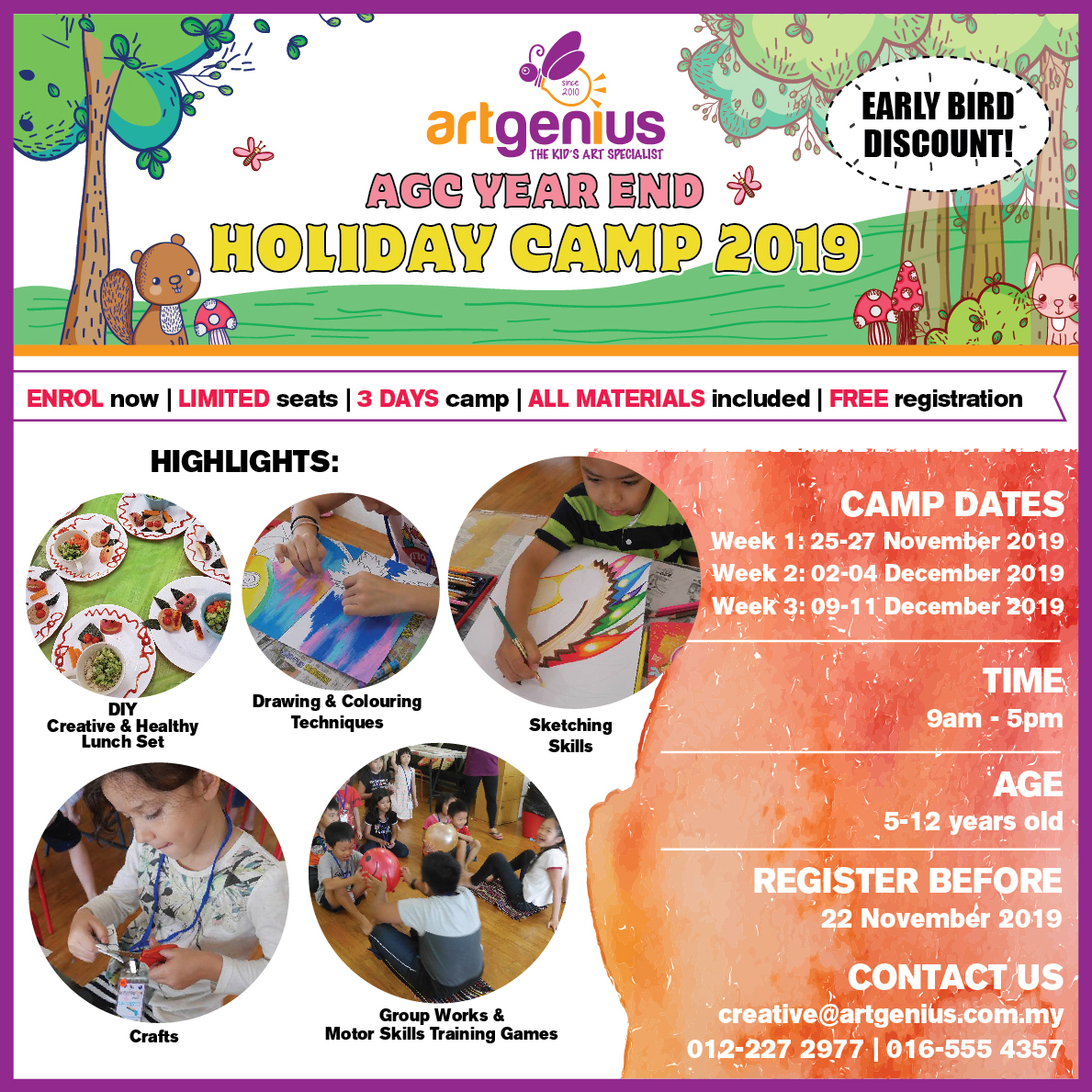 School Holiday Camp Nov-Dec 2019
