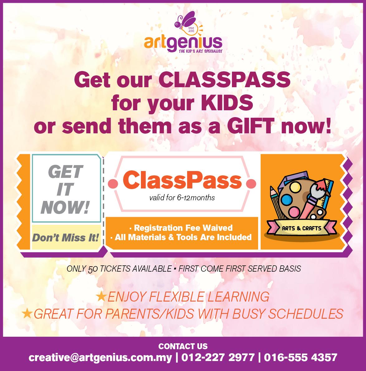 Art Genius Class Pass